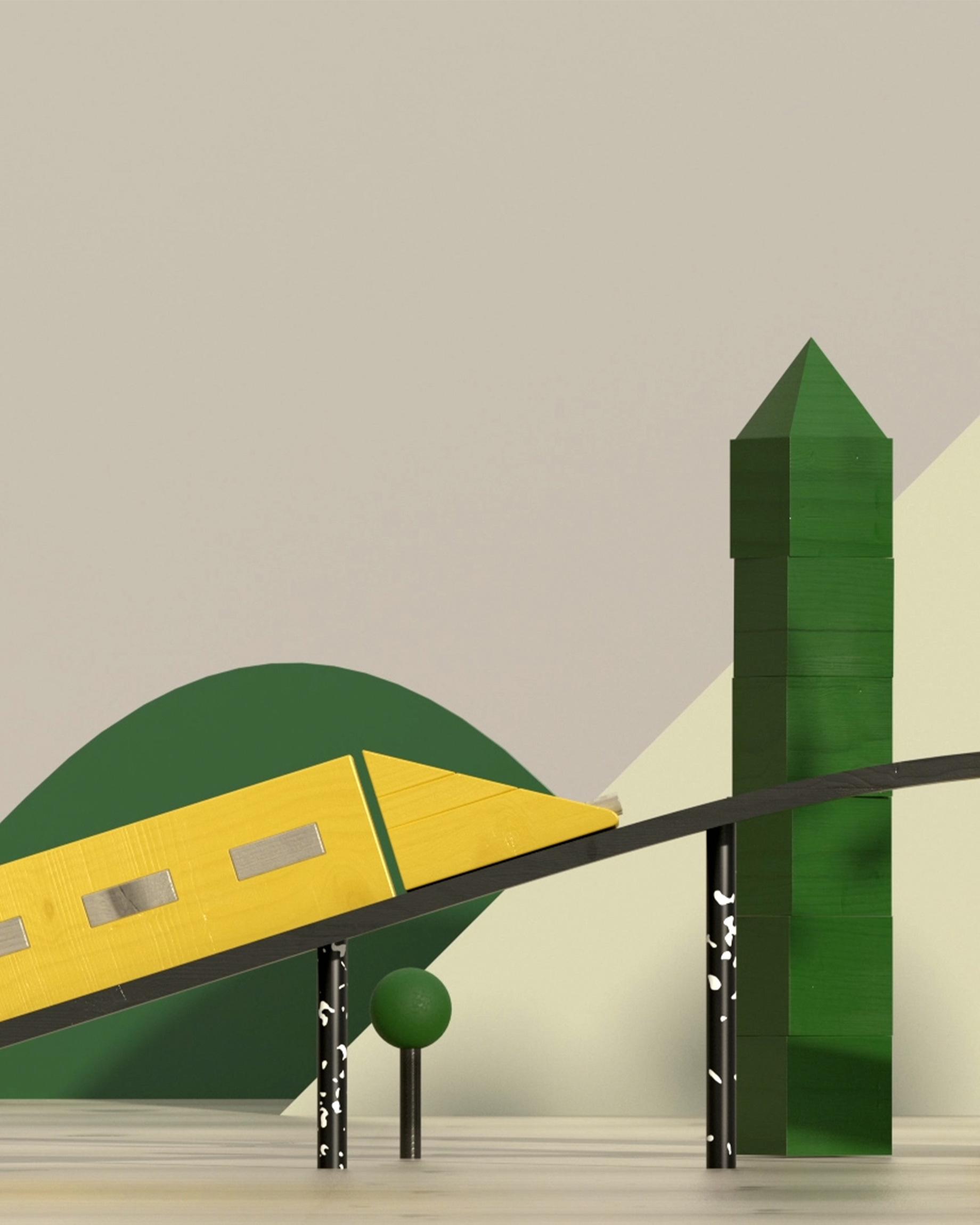 Nya stambanor train